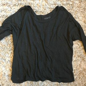 URBAN OUTFITTERS Black Long Sleeve with Cut Out
